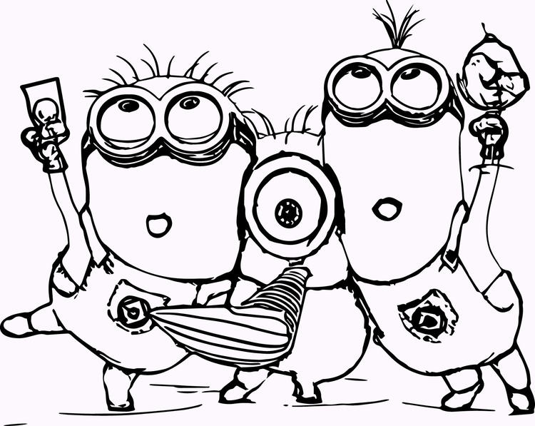 11 Cute Minion Coloring Pages