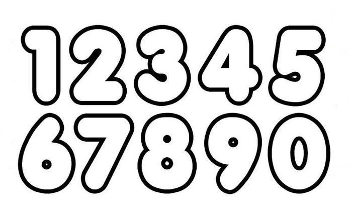 123 Numbers Coloring Pages