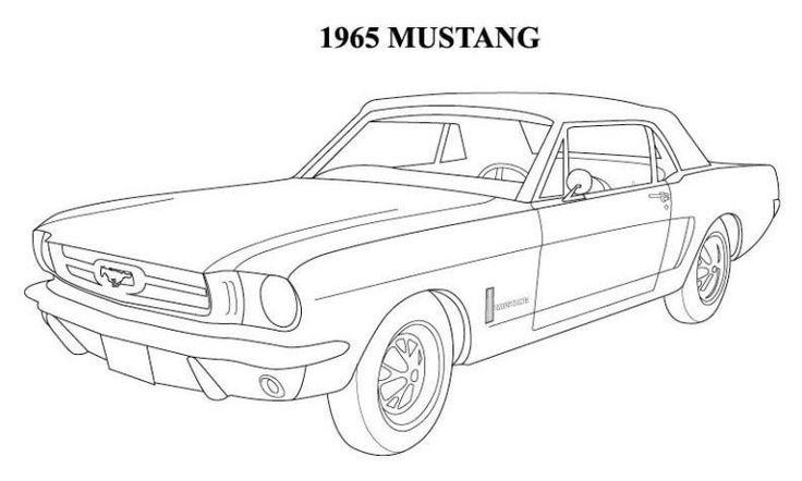 1965 Mustang Coloring Pages