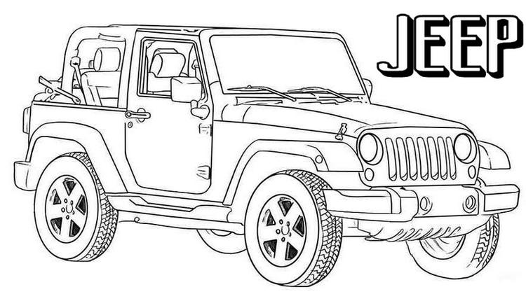 2019 Jeep Off Road Coloring Pages