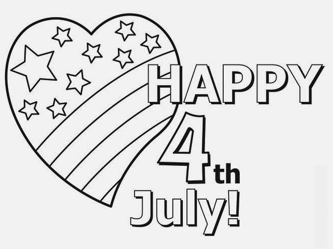 4 July Coloring Page To Print