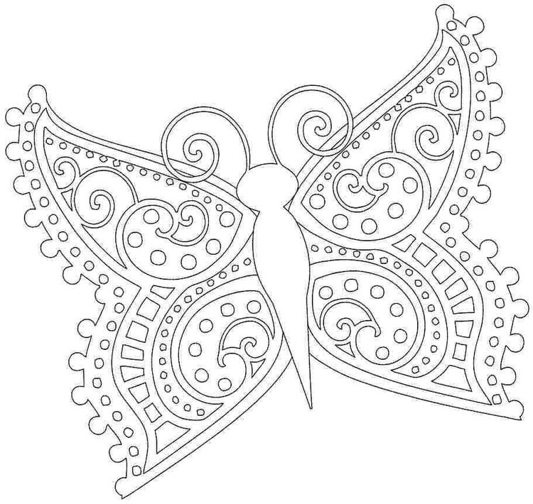 45 Animal Butterfly Coloring Pages Printable