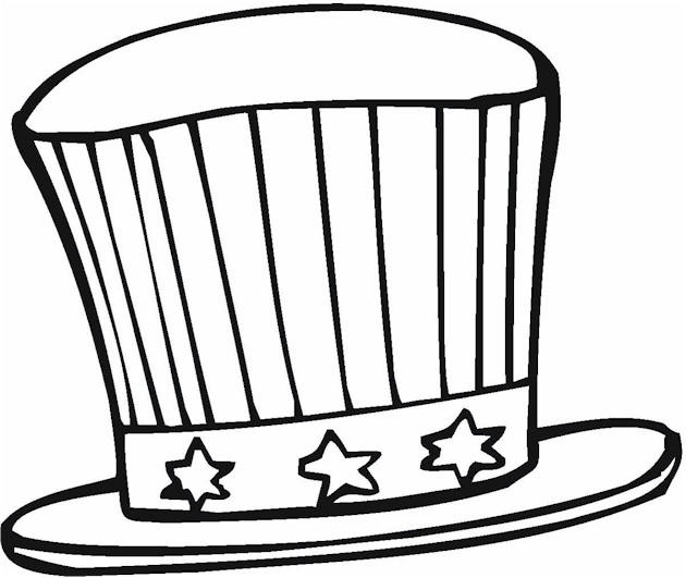 4th Of July Coloring Pages Hat
