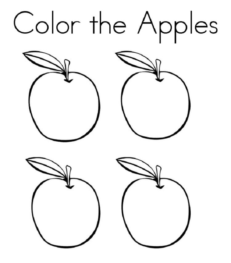 A Apple Coloring Page