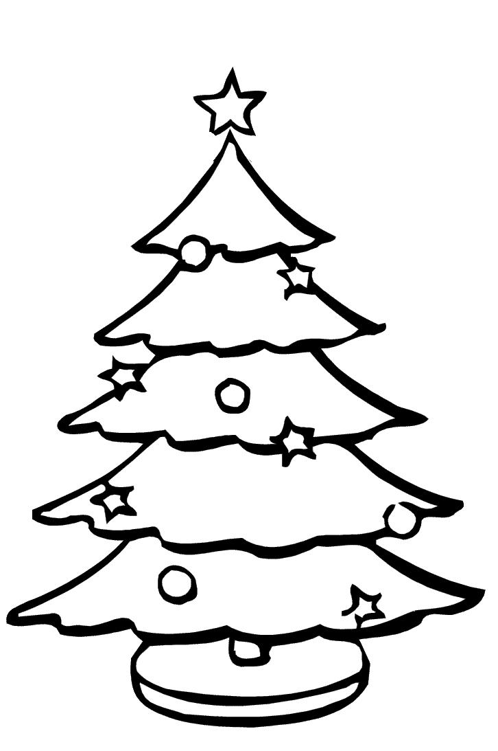 A Christmas Tree Coloring Pages