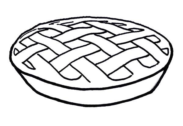 A Delicious Apple Pie Coloring Pages