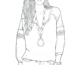 A fashion girl coloring pages
