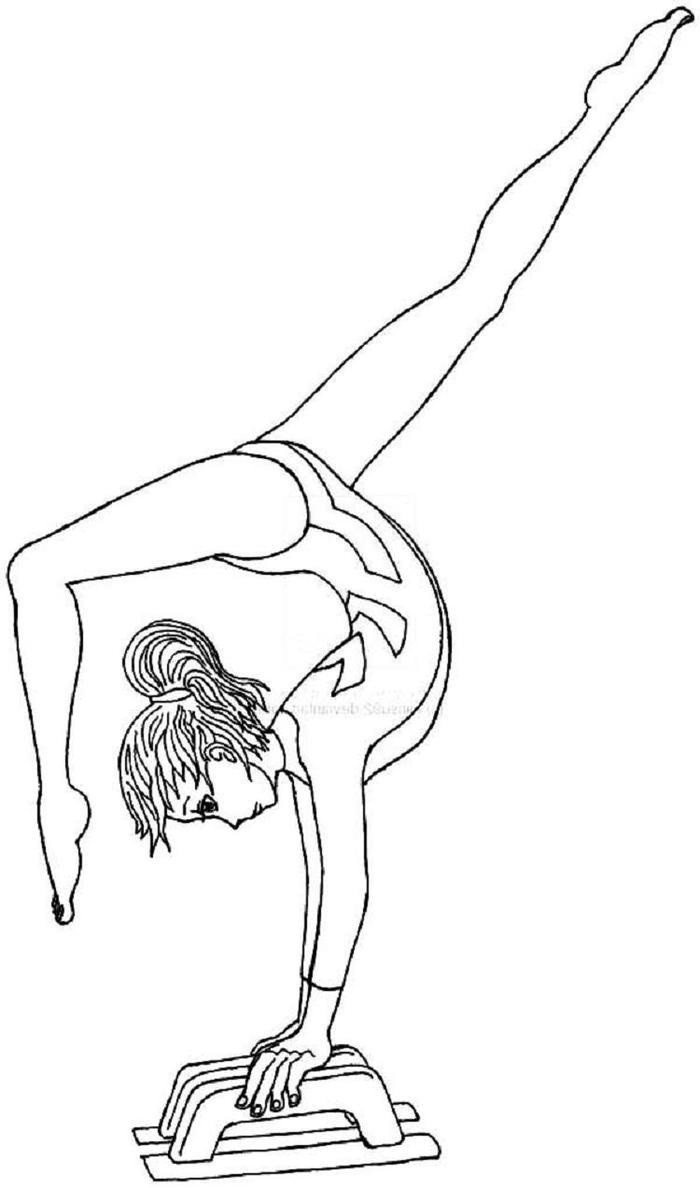 A Girl Doing Gymnastics Coloring Pages