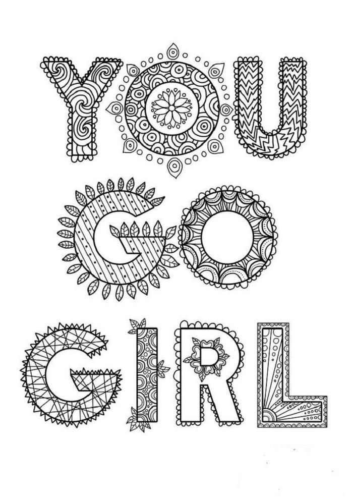 A Girl Quotes Coloring Pages