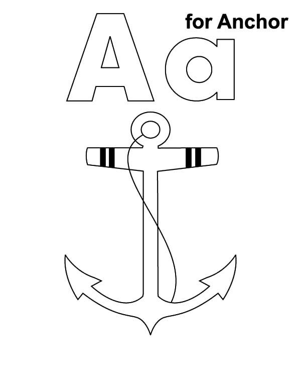 A Is For Anchor Coloring Pages