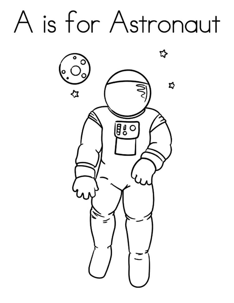 A Is For Astronaut Coloring Pages