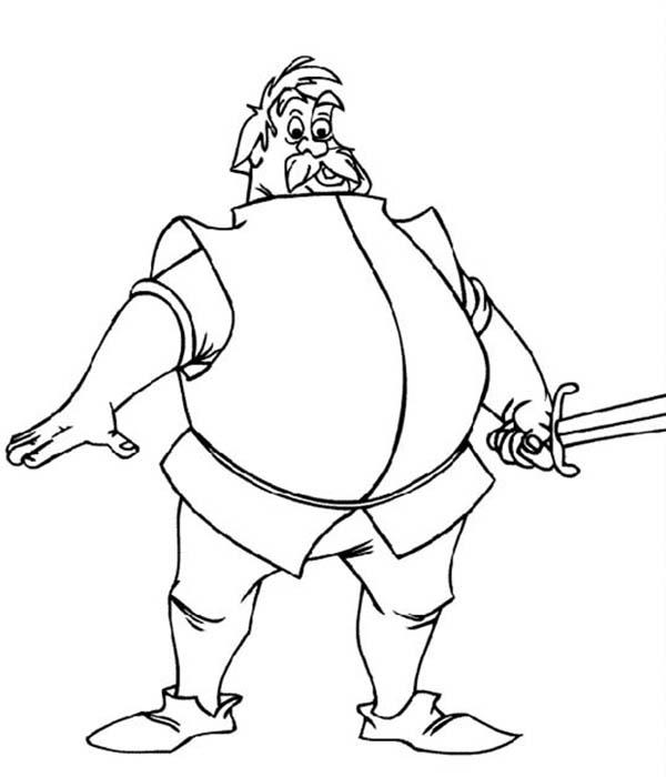A Knight Who Want To Fight Merlin The Wizard Coloring Pages
