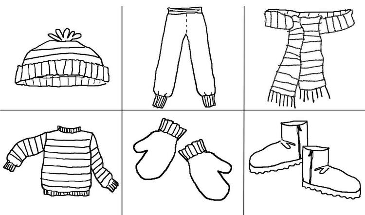 A Must Stuff Winter Clothes Coloring Pages - Coloring Ideas