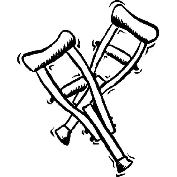 A Pair Of Walker Hospital Coloring Pages