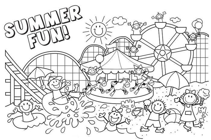 A Summer Fun Vacation Coloring Pages