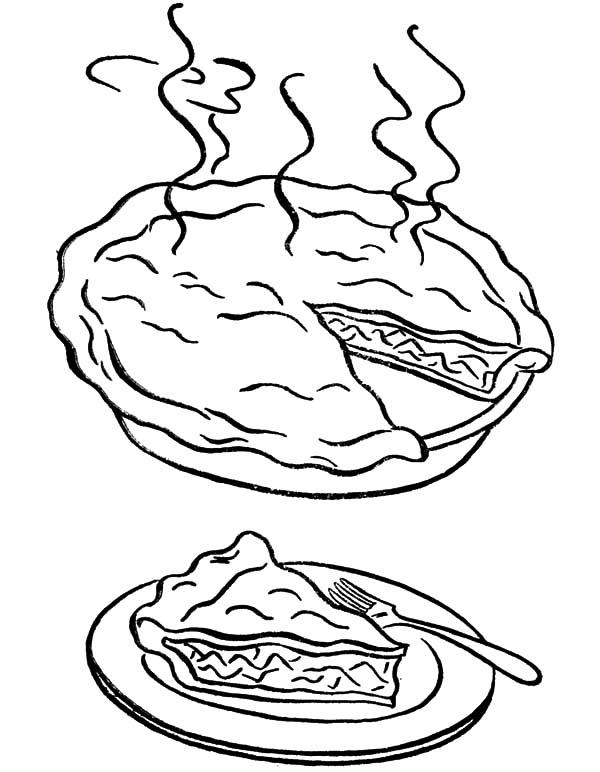 A Warm Piece Of The Apple Pie Coloring Pages