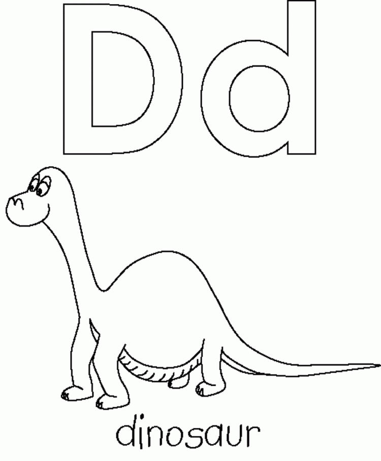 Abc Coloring Pages D For Dinosaur