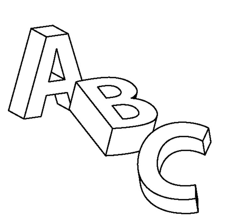 Abc Letters Coloring Pages For Kids