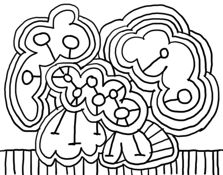 Abstract Art Coloring Pages For Kids