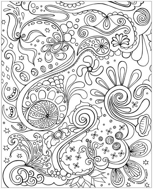 Abstract Coloring Pages For Girls By Thaneeya