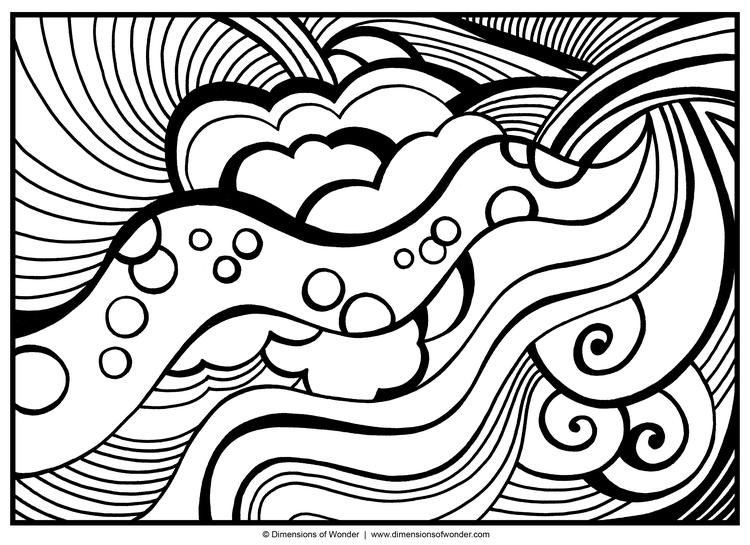Abstract Coloring Pages For Teenagers