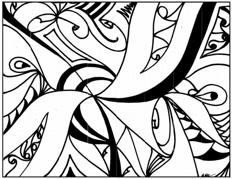 Abstract Design Coloring Pages Printable