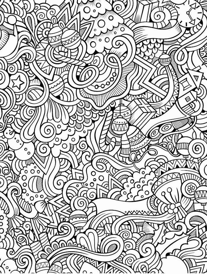 Abstract Doodle Coloring Pages