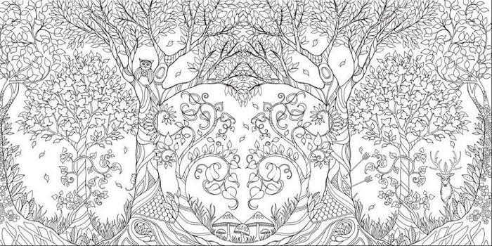 Abstract Garden Coloring Pages