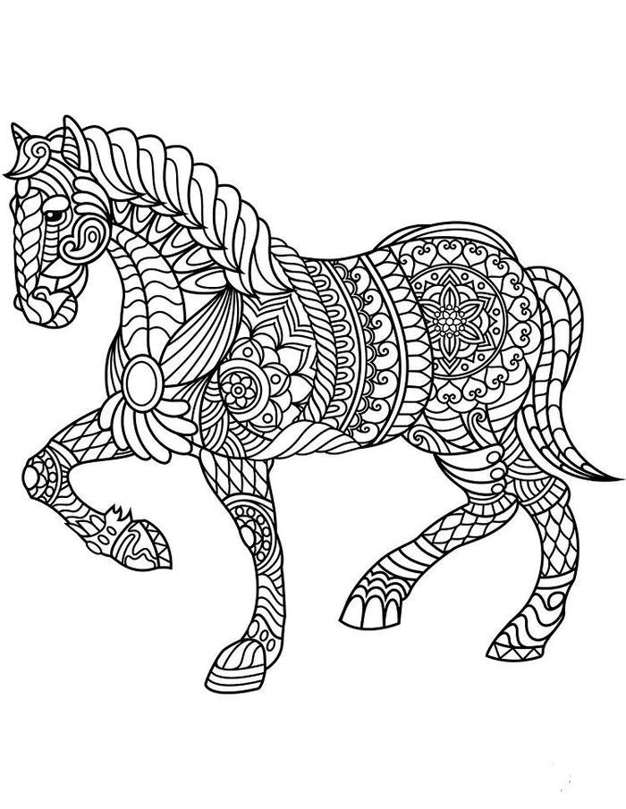 Abstract Horse Coloring Pages