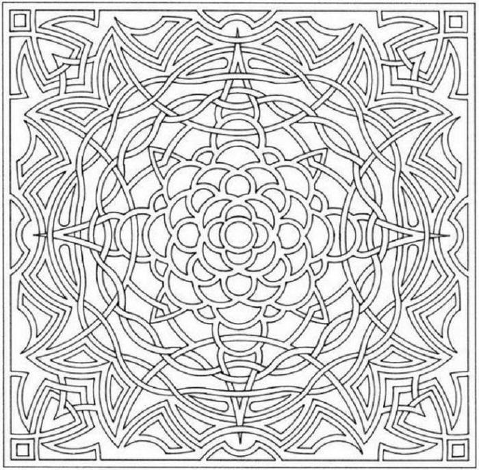 Abstract Illusion Coloring Pages