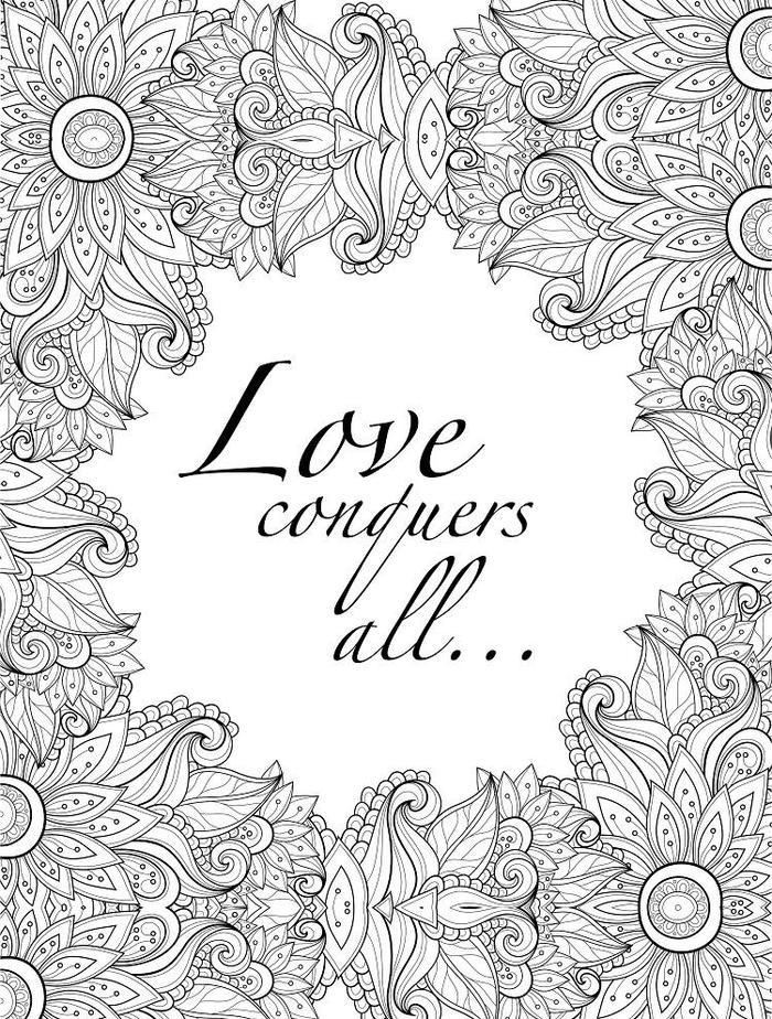 Abstract Love Coloring Pages