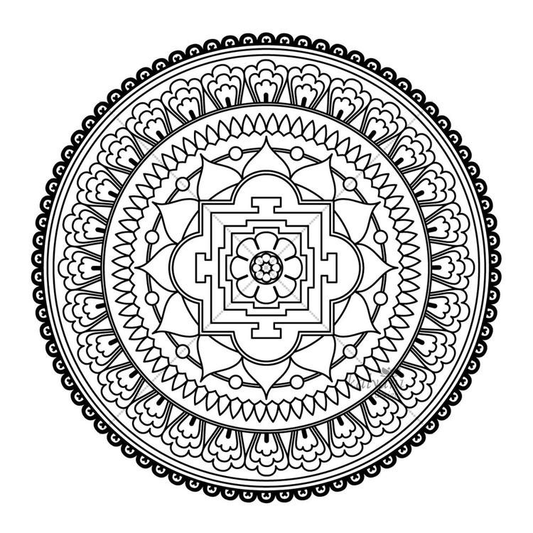 Abstract Mandala Coloring Pages For Adults