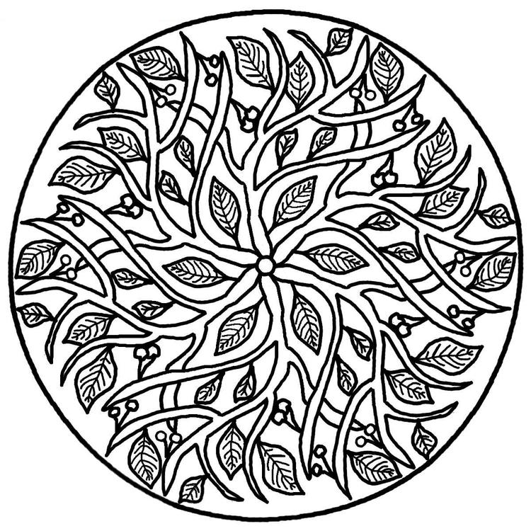 Abstract Nature Coloring Pages