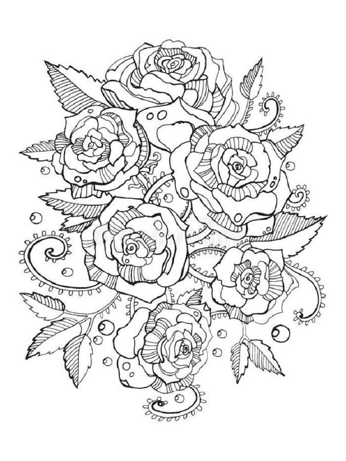 Abstract Rose Coloring Pages