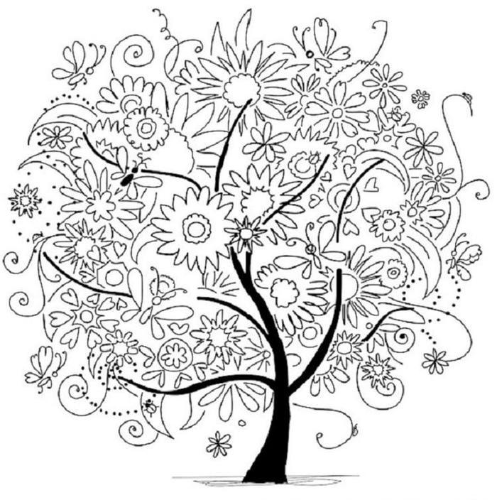 Abstract Tree Coloring Pages