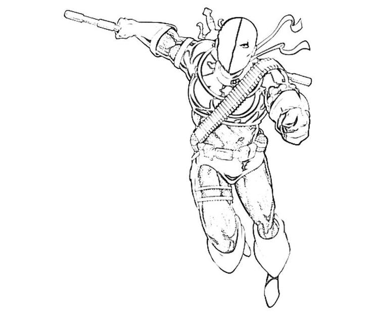 Actions Deathstroke Coloring Pages Arkham Origins