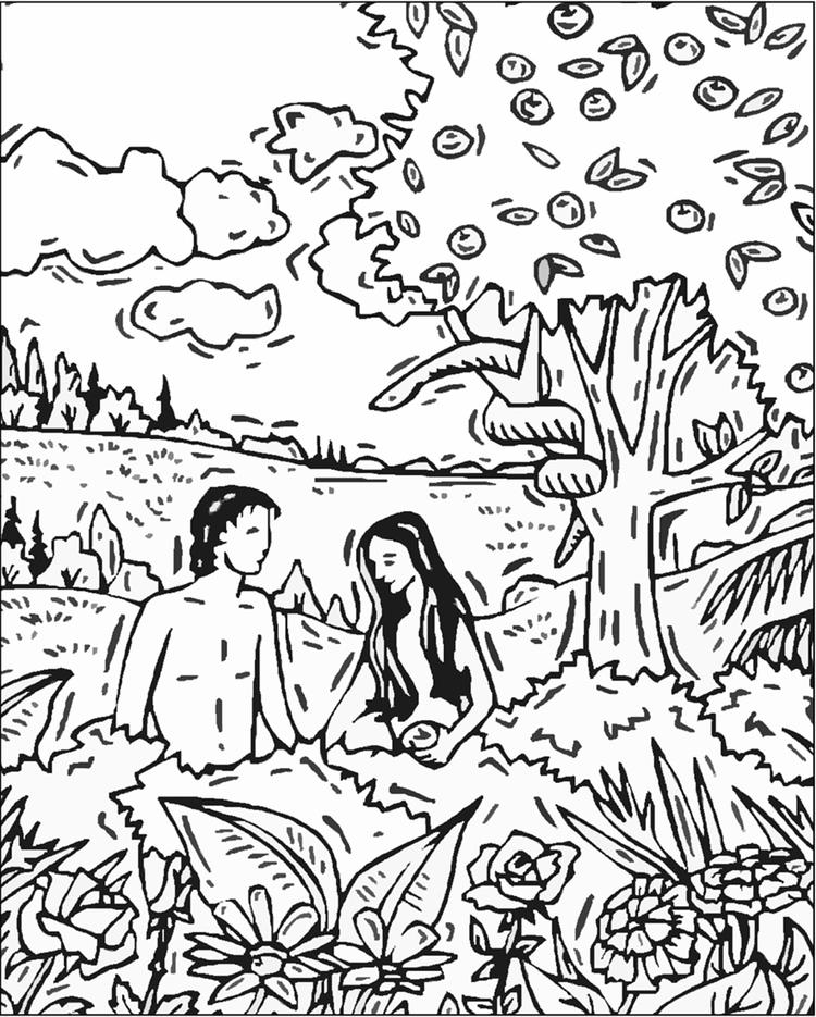 Adam And Eve Coloring Pages Free To Print
