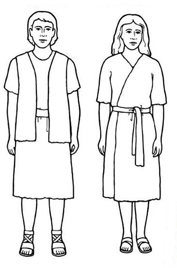 Adam And Eve Coloring Pages Free