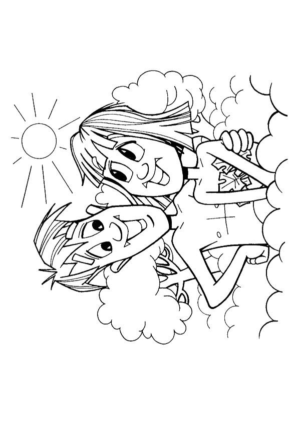 Adam And Eve Coloring Pages Happy