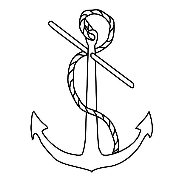 Admiralty Anchor Coloring Pages
