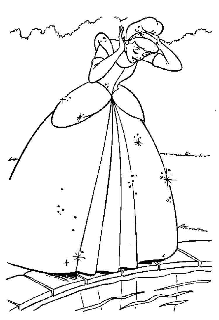 Adorable Cinderella Coloring Pages For Kids