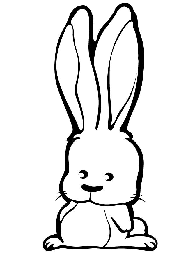 Adorable Coloring Pages For Kids Rabbit