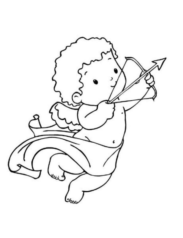 Adorable Cupid Valentine Coloring Pages