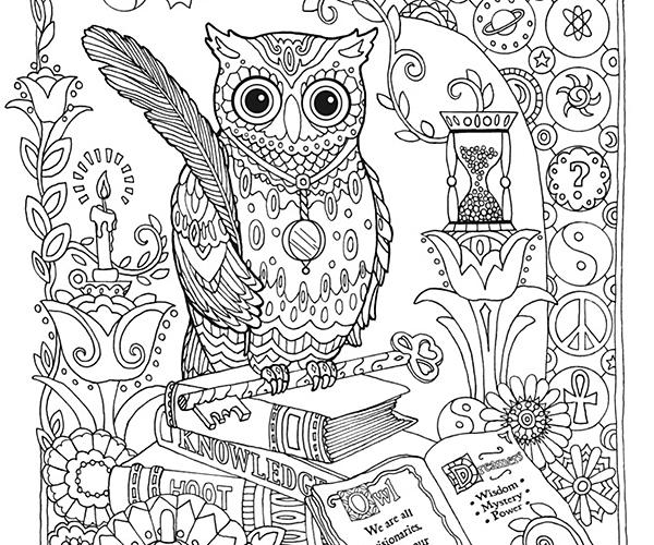Adult Coloring Pages Hard Owl