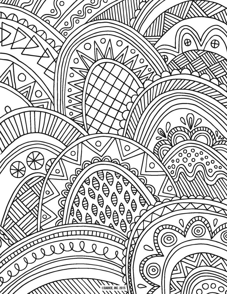 Adult Coloring Pages Hard Pattern By Darice