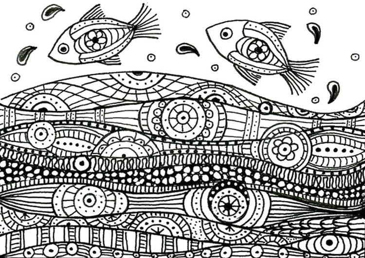 Adult Coloring Pages Sea Fish