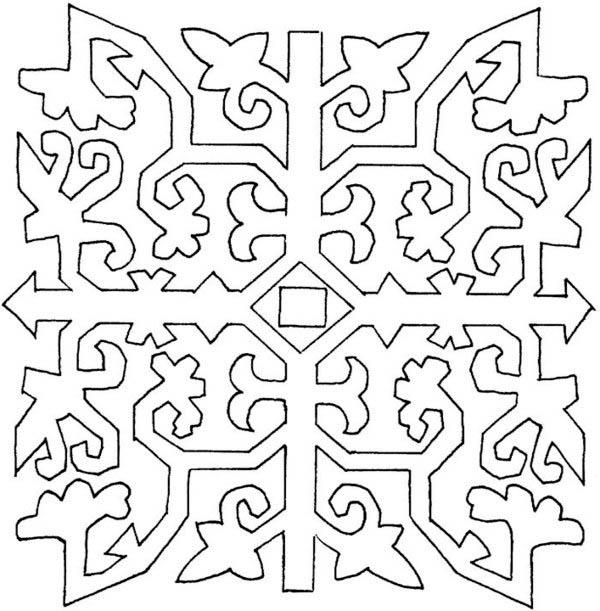 Adult Hard Mosaic Coloring Pages