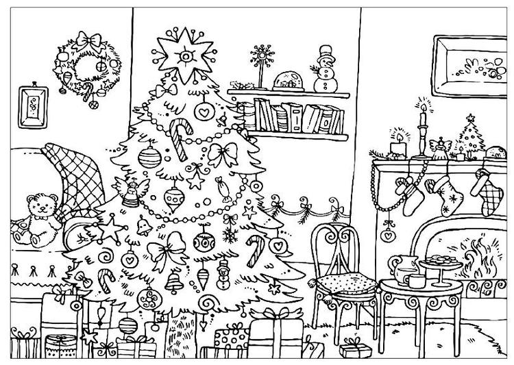 Advanced Christmas Tree Coloring Pages