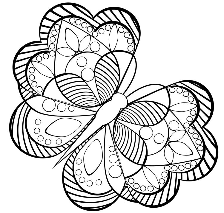 Advanced Coloring Pages Of Butterfly