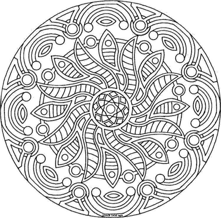 Advanced Coloring Pages Of Mandala